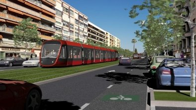 Nice : le tramway fonce vers Cagnes-sur-Mer